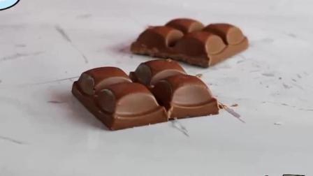 用一块德芙巧克力来做冰淇淋, 老板说这样能卖30元