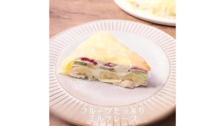 水果千层蛋糕这样做, 简单美味