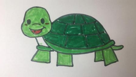【简笔画30】龟丞相, 一起来画一只吧!