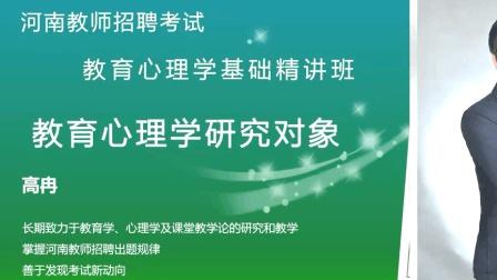 2018河南招教考试教育心理学-高冉