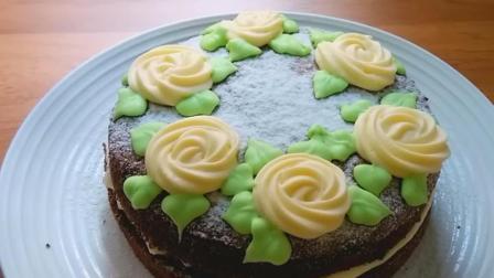 巧克力戚风奶油芝士夹心蛋糕, 好吃又美味