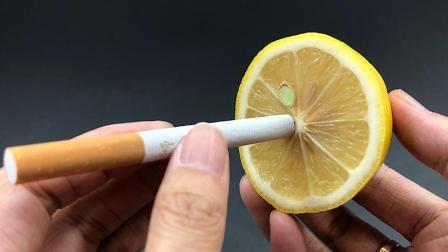 烟草公司不说的秘密, 把柠檬汁滴在香烟上这么厉害, 后悔知道晚了