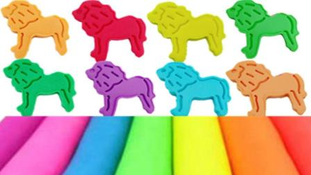 培乐多DIY彩泥橡皮泥制作 手工小动物狮子 儿童玩具!