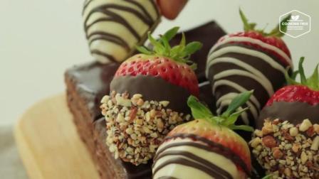 【COOKING TREE】可爱的一人食草莓巧克力蛋糕制作过程