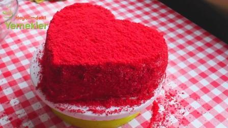 爱TA, 从做一款充满爱心的红丝绒蛋糕开始吧, 有颜值又美味
