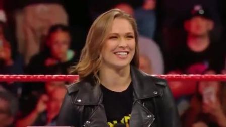 WWE戴娜说隆达罗西没有实力, 十秒钟后乖乖的认输了!