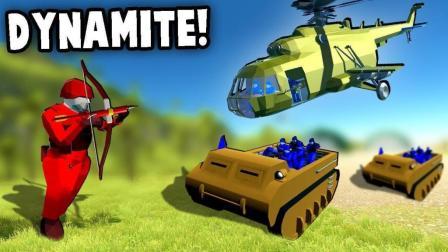 小飞象解说✘战地模拟器 搞笑袭击军事基地! 铁甲战神大战全新坦克!