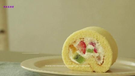 美食搬运: Cooking tree系列, 水果蛋糕卷
