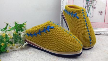 手工织品情侣款二上集毛线鞋编织视频教程手工艺毛线刺绣如何钩织
