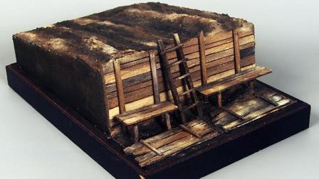 模神MoShen场景地台套件《战壕03/04》军事战车坦克模型沙盘情景展示地台DIY制作教程教学