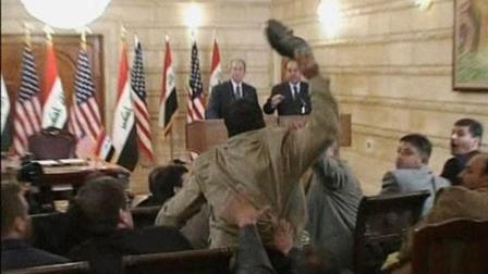 十年前他朝小布什扔鞋, 如今他要竞选伊拉克议员!