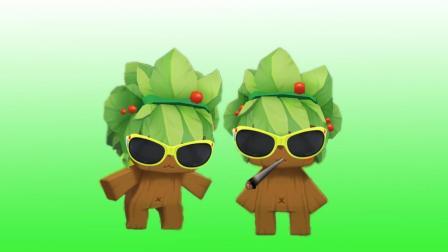 迷你世界 双胞胎小树人 战斗力好几万啊