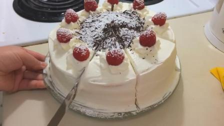 水果奶油蛋糕, 新鲜水果, 口感非常棒