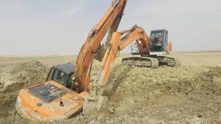 失控的挖掘机, 能把挖掘机开成这样, 这也是没谁了