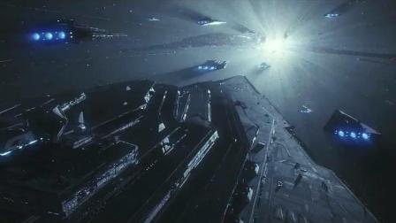 一部很科幻的星际战争大片, 千钧一发之际, 星际巡洋舰光速撞击敌舰