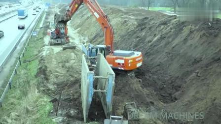 挖掘机的手臂是真方便, 拆下挖斗, 就可以当吊车用