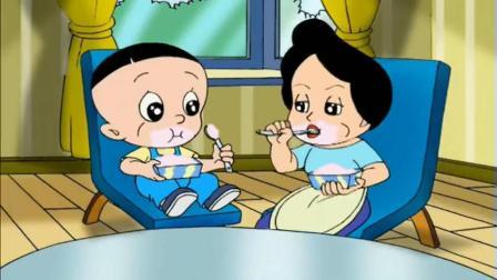 大头儿子: 全家吃冰淇淋都长胖, 大头儿子想出妙招, 吃不胖冰淇淋