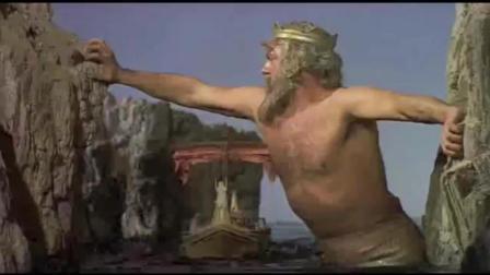 1963年的美国好莱坞大片, 渔船海上遇到山崩, 幸亏巨人帮助脱险