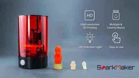 Sparkmaker-SLA-LCD光固化3D打印机-宣传视频