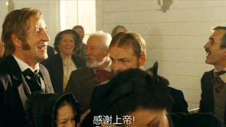 汤姆索亚历险记:小男孩看着汤姆一家团聚,默默地走出教堂!
