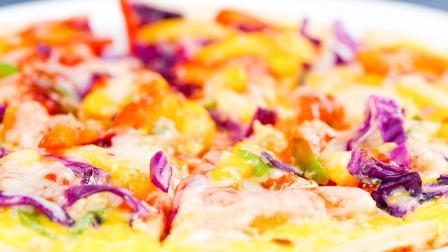 只用一个平底锅和鸡蛋,就能做出2种披萨,味道秒杀必胜客