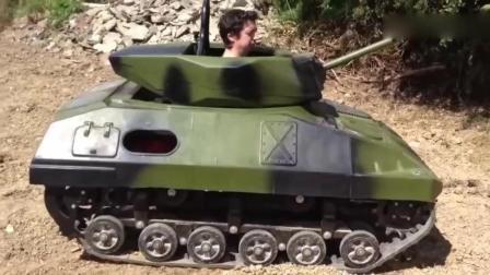 外国牛人自制小坦克车, 爬坡能力超强