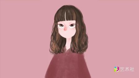 手绘插画头像教程 教你画一个唯美眼睛少女头像