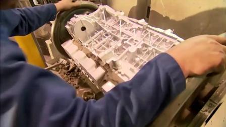 德国名车发动机机座铸造——数控车床打磨超级汽车发动机车身