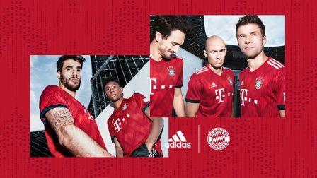 阿迪达斯推出拜仁慕尼黑俱乐部2018-19赛季主场球衣