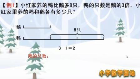 小学三年级数学奥数 学典型应用题 差倍问题一定要让孩子学会