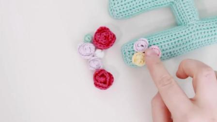 """创意手工DIY, 教你钩织""""玫瑰花""""的方法, 适用于装饰衣物"""