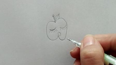趣味表情包红苹果表情包简笔画