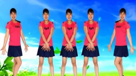 四川美女蓉蓉原创动感32步广场舞《花城姑娘》一起跳吧