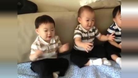 宋家三胞胎小时候跳舞视频, 萌萌哒太可爱了