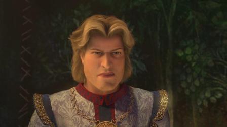 怪物史瑞克3:英俊王子演话剧没人看,史瑞克一出来全场都尖叫