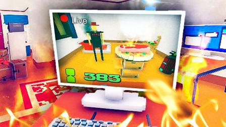 【屌德斯解说】 吃播模拟器 知名吃播直播烤肉把房子给烧了!