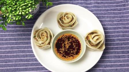 翡翠花朵蒸饺做法