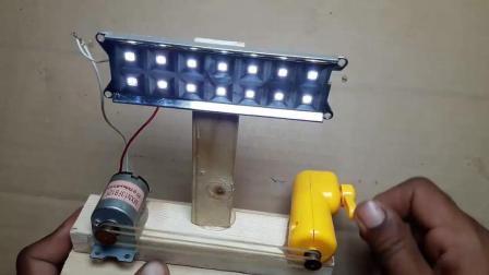 自制手摇发电机, 点亮小灯泡