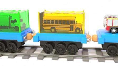 开发幼儿思维和想象力, 托马斯火车载着混凝土搅拌车学习英文颜色