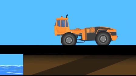 幼儿益智亲子动画启蒙, 超级变形车变身吊车进行施工作业!