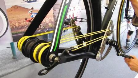 自行车挂上这根绳子, 时速50公里, 省力又快速, 爬坡不费劲