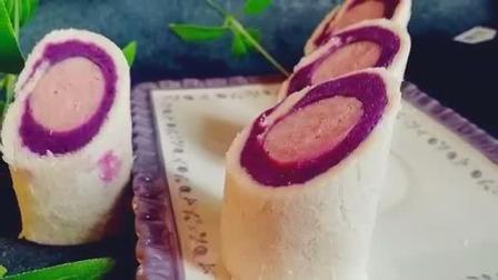 这样做紫薯土司卷, 非常好吃, 简单易学, 家人都喜欢吃
