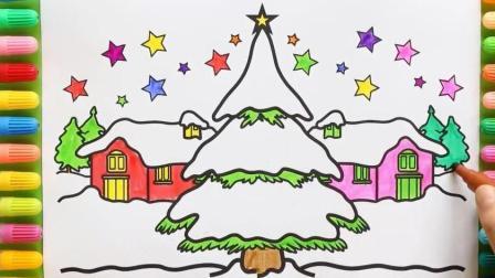 画出冬天夜空的星星