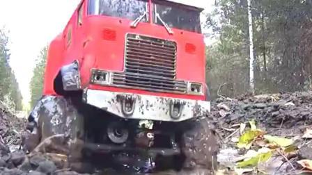 RC遥控越野卡车户外越野, 这样的路也是够烂的了