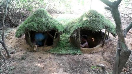 【柬埔寨荒野兄弟】原始技术20 地下住宅(5)