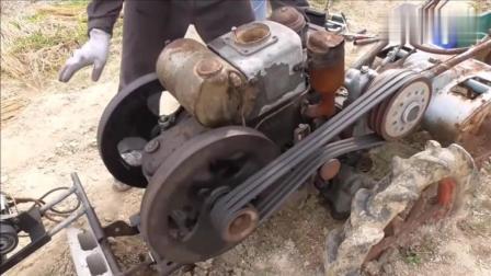 日本老式柴油机启动, 真的有些费劲