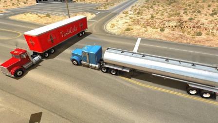 50多吨的大货车全速撞过来, 你猜会发生什么? 太惨烈啦!