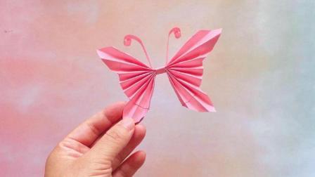一张纸就可以折出美丽的立体蝴蝶, 做法很简单, 手工折纸视频大全