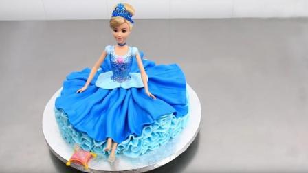 芭比娃娃生日蛋糕制作, 美翻你的少女心, 看着都是享受怎么忍心吃