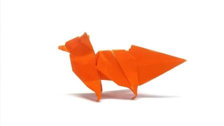 """创意手工DIY, 教你折纸""""赤狐""""的方法, 简单易学!"""